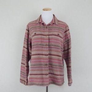 vintage womens cotton button up shirt